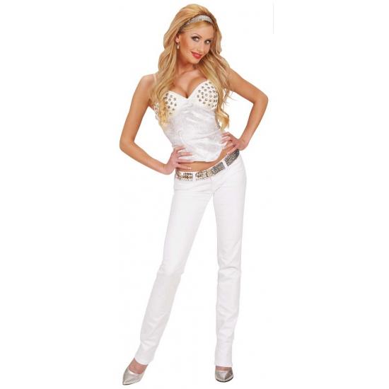 Sexy dames korset in het wit
