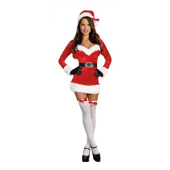 Sexy kerstjurkje met jasje voor dames