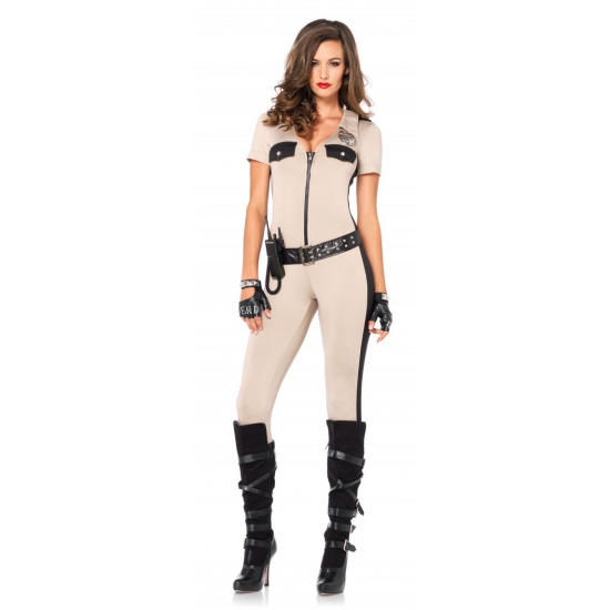 Sexy politie catsuits met accessoires