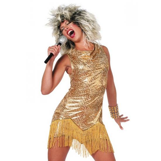 Sexy Tina jurkjes in het goud