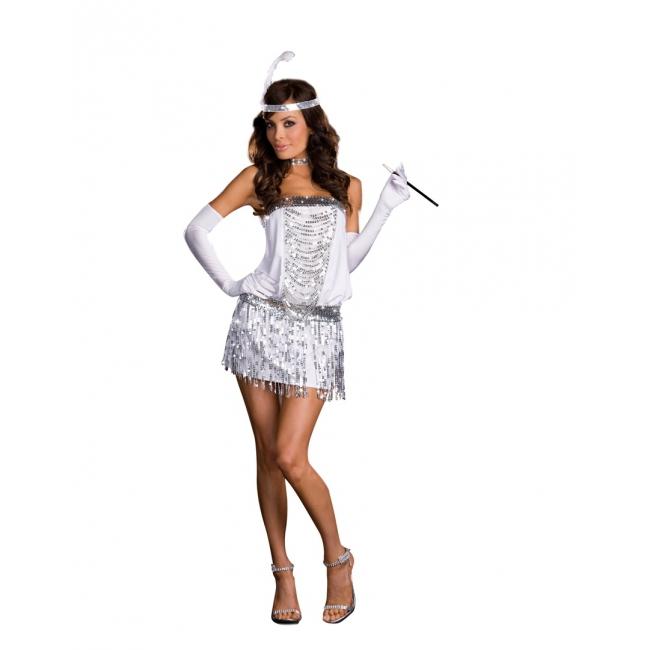 Sexy twenties dames kostuum met accessoires