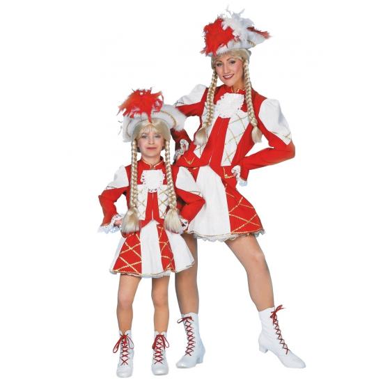 Showdans pakje voor meiden rood met wit