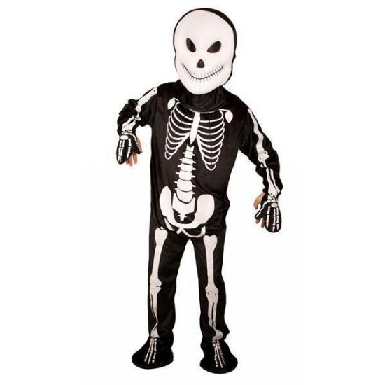 Skelet kostuum zwart/wit