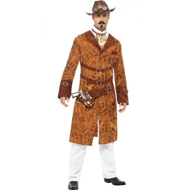 Steampunk cowboy kostuum voor heren