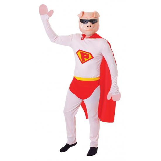 Super varken kostuum met masker