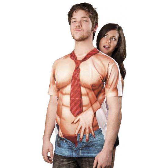 T shirt met naakte man opdruk