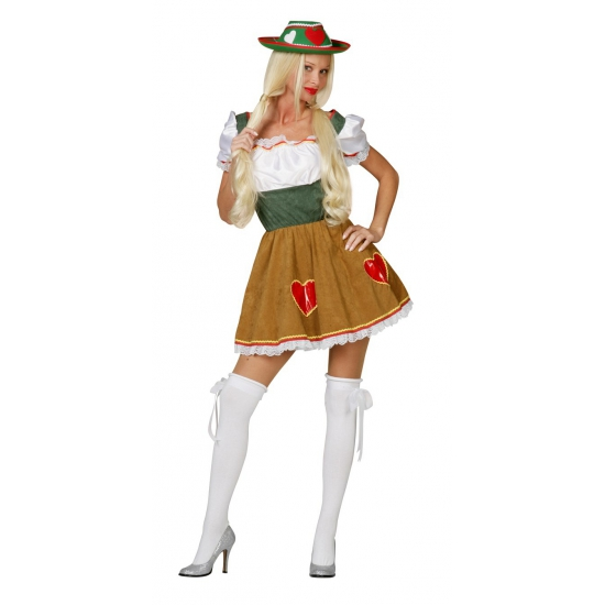 Tiroler bier feestkostuum Heidi