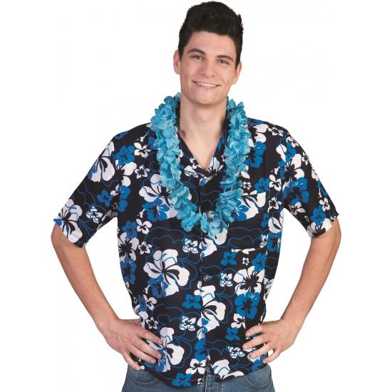 Tropisch overhemd blauw