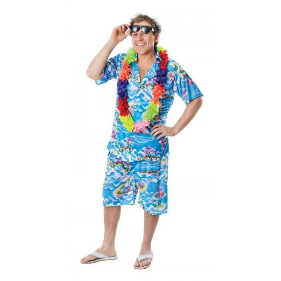 Tropisch pak voor heren blauw