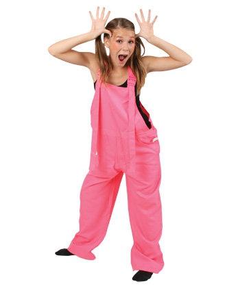 Tuinbroek fel roze voor kinderen