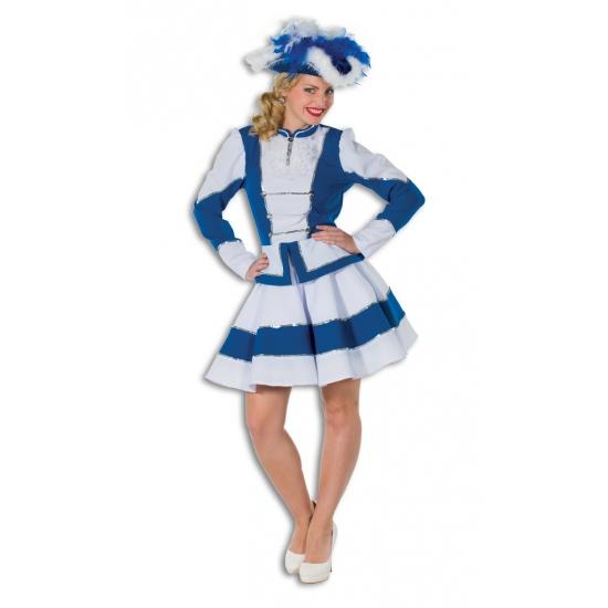 Twirl kostuum voor dames blauw met wit