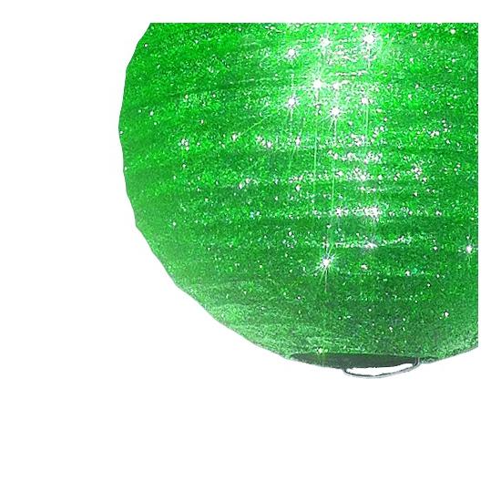 Unieke groene lampion met glitters