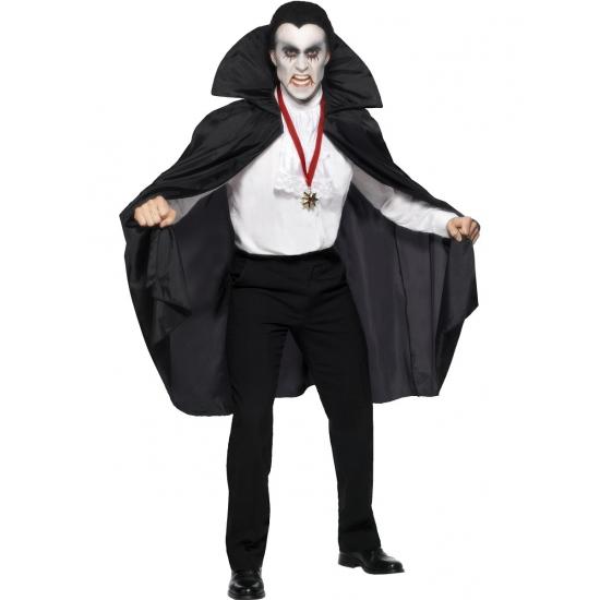 Vampier cape met opstaande kraag