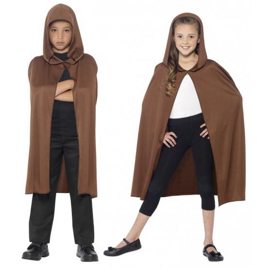 Verkleedkleding bruine cape