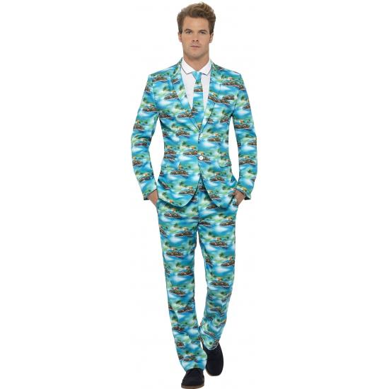 Verkleedkleding heren maatpak Aloha