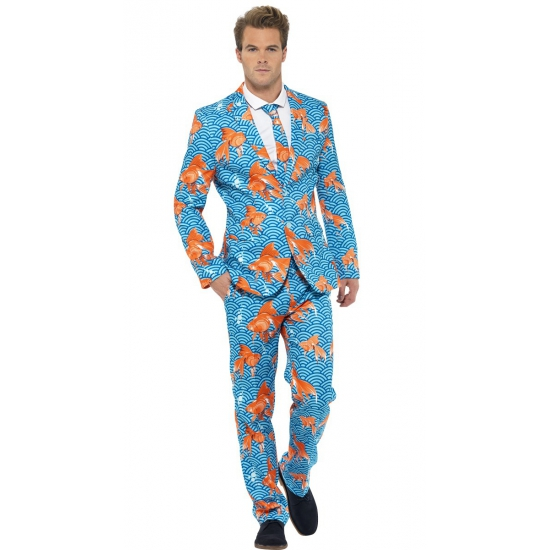 Verkleedkleding heren maatpak goudvissen