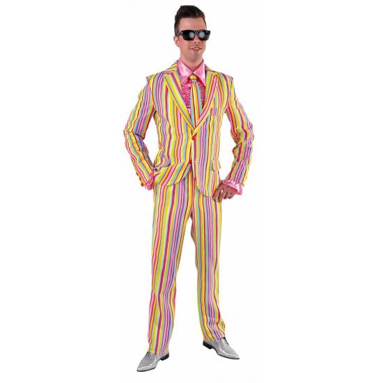 Verkleedkleding heren maatpak pastel