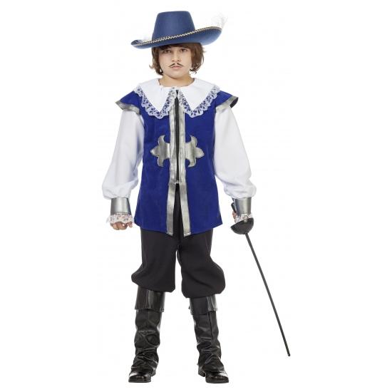 Verkleedkleding musketier blauw