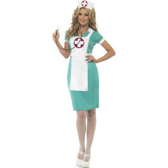 Verpleegster kostuum met schort