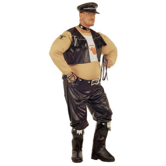 Vette motorrijder kostuum