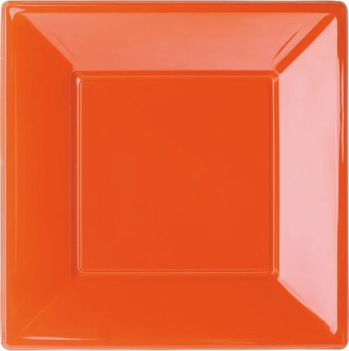 Vierkante eetbordjes oranje