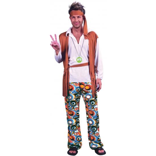Voordelig hippie kostuum heren