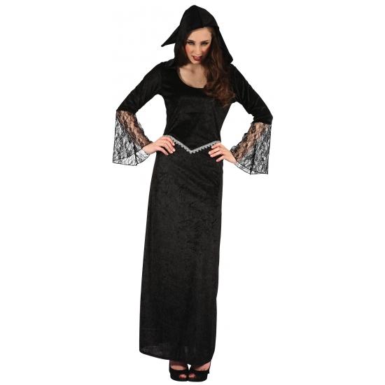 Weduwe jurk voor dames zwart