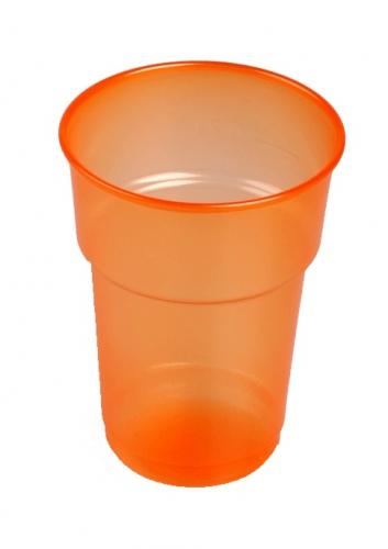 Wegwerp bekers oranje 75 stuks