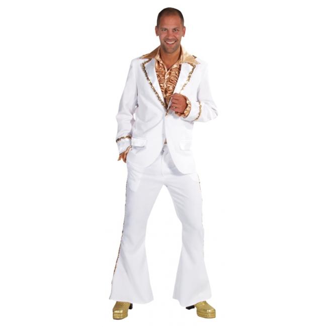 Wit Bling Bling kostuum heren