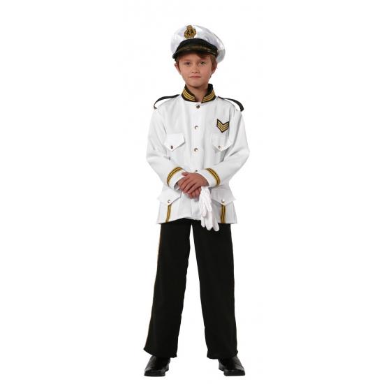 Wit  kapiteinspak voor kinderen