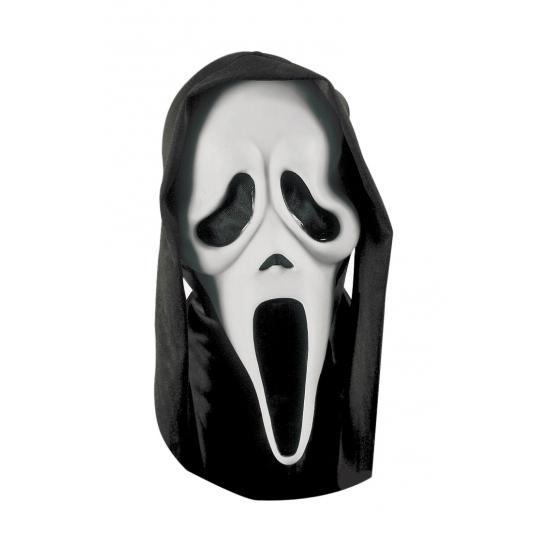 Wit Scream masker met kap