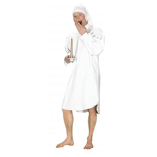 Wit slaap kostuum voor heren