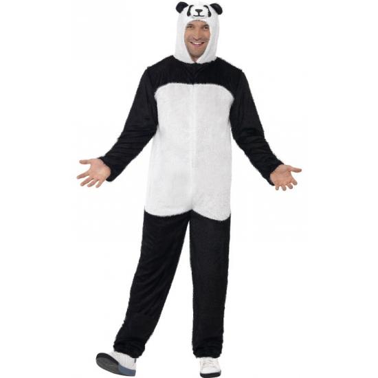 Wit zwart panda kostuum