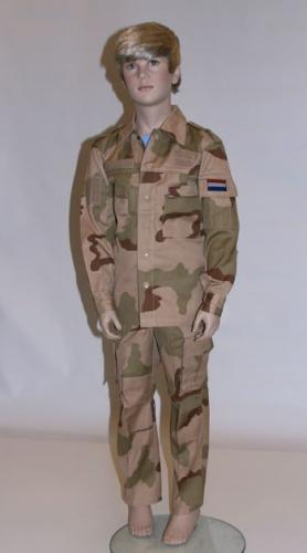 Zandkleurig leger kostuum voor kinderen
