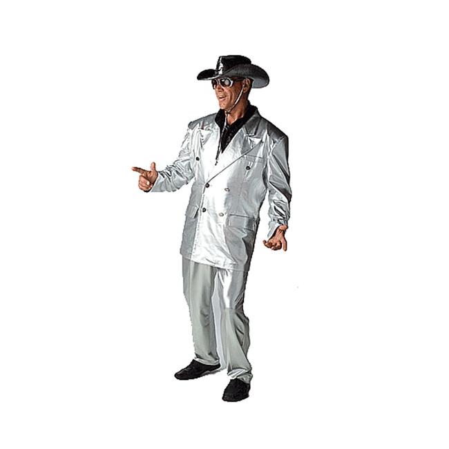 Zilveren bling kostuums voor heren