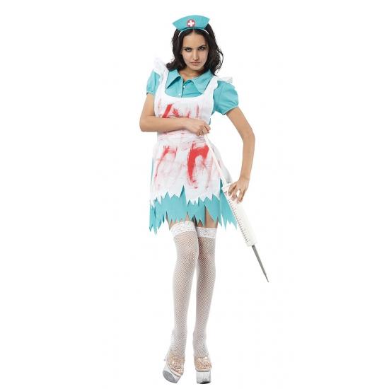 Zuster kostuum met bloedspetters