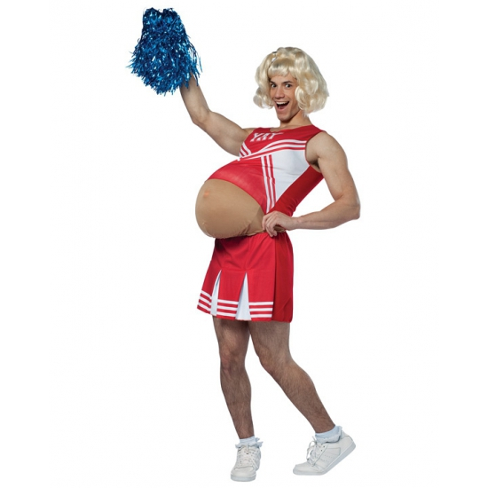 Zwangere cheerleader kostuum