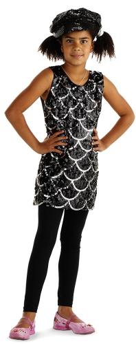 Zwart glitter pailletten jurkje voor meisjes