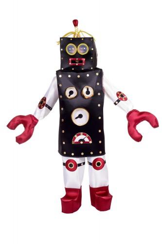 Zwart met rode robot kostuum