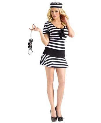 Zwart met wit gestreept jurkje
