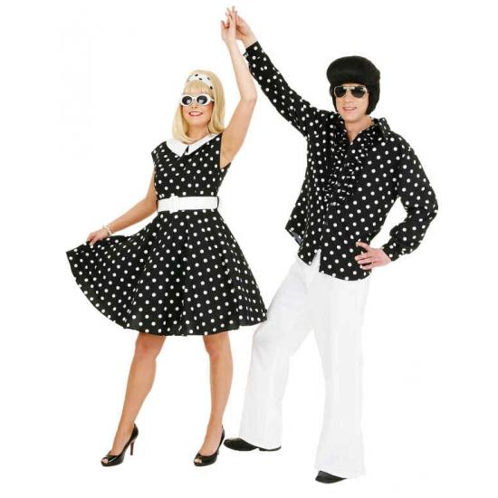 Zwart met wit jaren 50 jurkje
