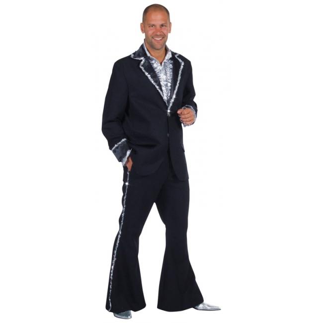 Zwart seventies kostuum heren