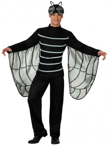 Zwart vliegen kostuum voor volwassenen