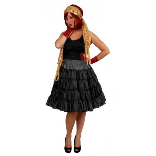 Zwarte 4 laags tule rok voor dames