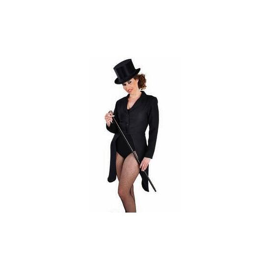 Zwarte circus jas dames