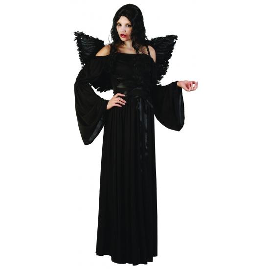 Zwarte dames halloween jurk