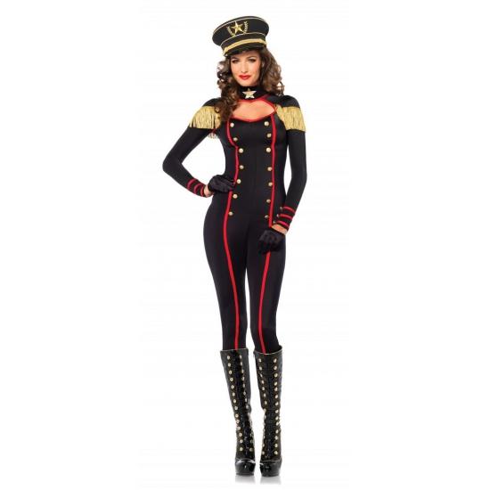 Zwarte generaal catsuit voor dames