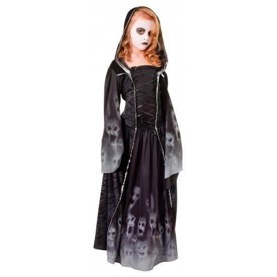 Zwarte gothic jurk voor meiden