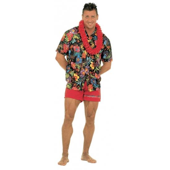 Zwarte Hawaii blouse voor heren