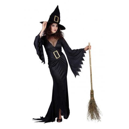 Zwarte lange heksen jurken